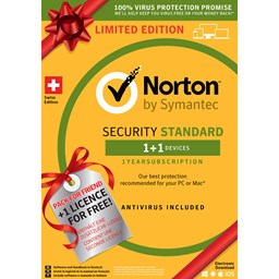 Bild von Norton Security Standard Limited Edition 1 User 1 PC + 1 PC gratis