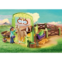 "Bild von Playmobil 9479 Spirit Riding Free Pferdebox ""Pru & Chica Linda"""