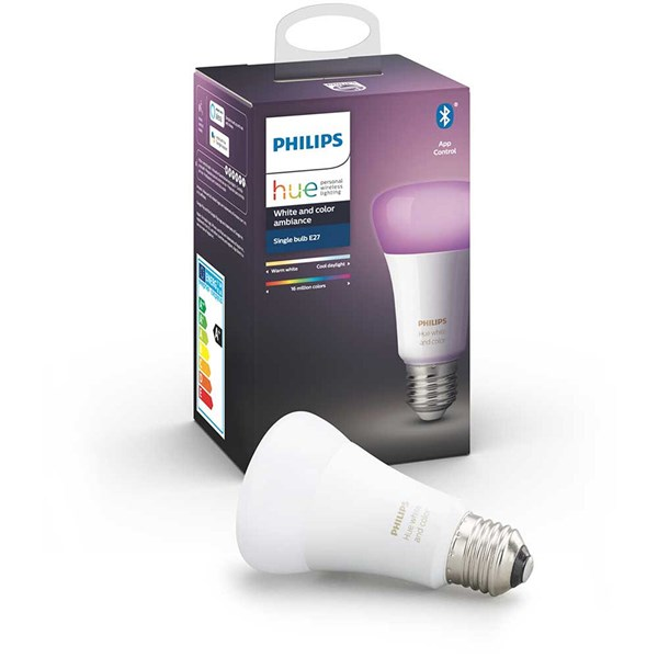 Bild von Philips Hue LED-Lampe E27 White & Color Ambiance Einzelpack