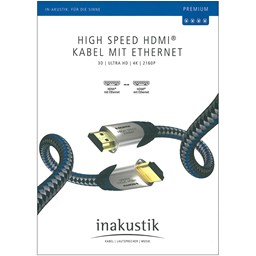 Bild von Inakustik Premium High Speed HDMI Kabel mit Ethernet 0,75m