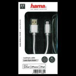 Bild von Hama USB-2.0-Lade-/Sync-Kabel für Apple iPod/iPhone/iPad mit Lightning Connector, 1,5 m
